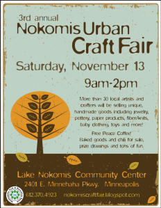 Nokomis Urban Craft Fair flier