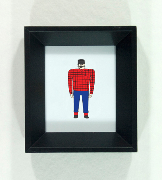 Paul Bunyan Statue framed illustration by redshoes26 design