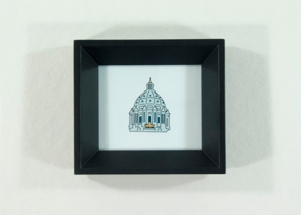MN State Capitol framed illustration by redshoes26 design