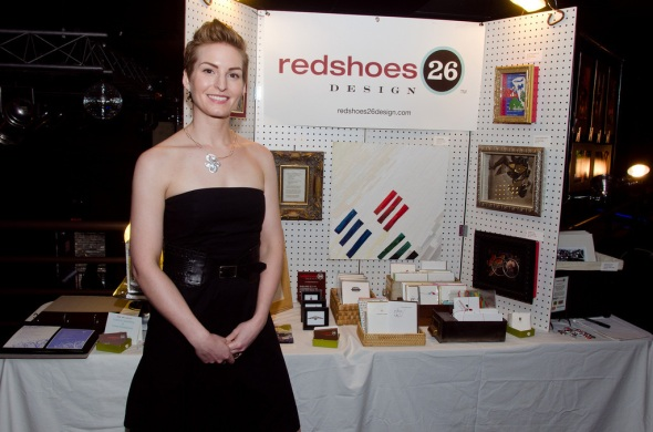 Christy Johnson, redshoes26 design, at RAW event (photo by Drew Carlson)
