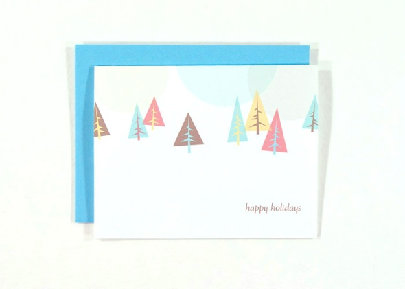 Holiday Card with trees