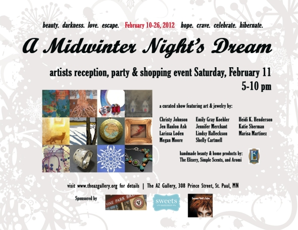 midwinter night's dream postcard