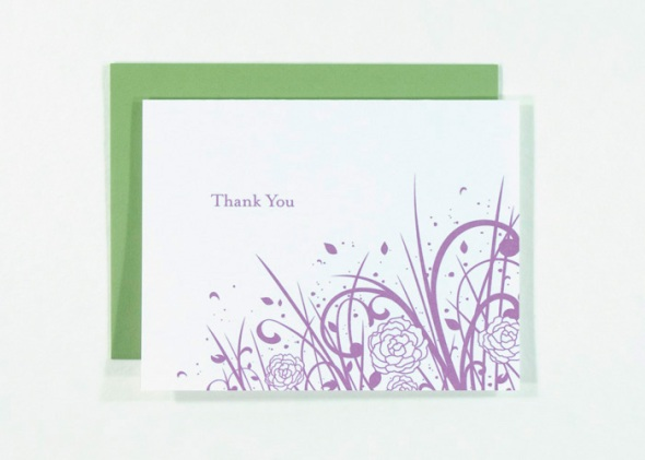 thank you card with peonies by redshoes26 design