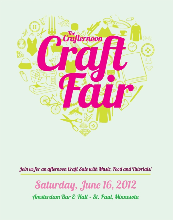 crafternoon craft fair poster