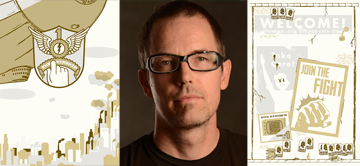 Todd Thyberg and his graphic novel, The Airship