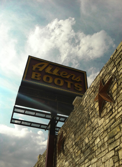 Allen's Boots, another iconic Texas location that is included in my Texas Icons series. I love this sign.