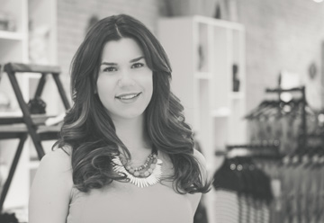 Ashley Kilcher, owner of and makeup artist at Minneapolis-based boutique, Roe Wolfe.