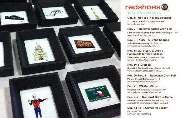 redshoes26 show schedule 2013