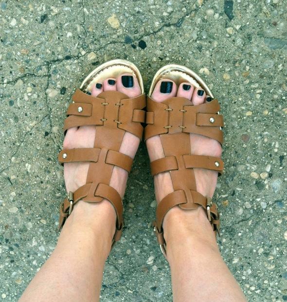 camel sandals