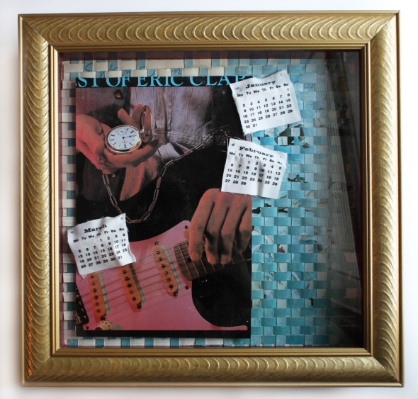 Is It Time? - Mixed-media shadowbox by Christy Johnson