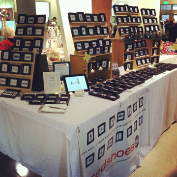 My booth at No Coast Craft-O-Rama in December at the Midtown Global Market.